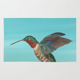 Hummingbird on the Move Rug