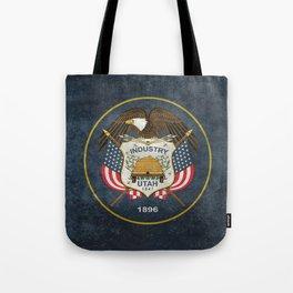 Utah State Flag in vintage retro style Tote Bag