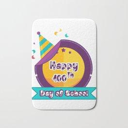 Happy 100 Days Of School Bath Mat