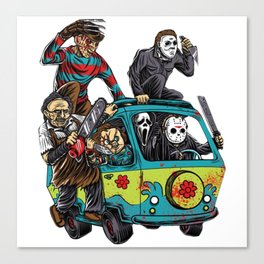 The Massacre Machine Horror Canvas Print