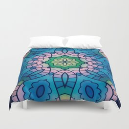 Fun with Coloring Mandala Style 4 Duvet Cover