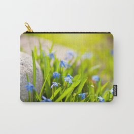 Scilla siberica flowerets named wood squill Carry-All Pouch