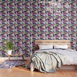 PURPLE & WHITE ASIAN GARDEN LILIES DRAWING Wallpaper