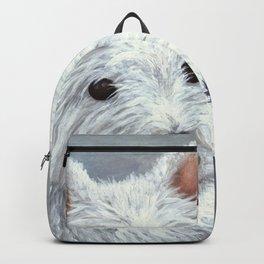 Dog 137 White Westie Backpack