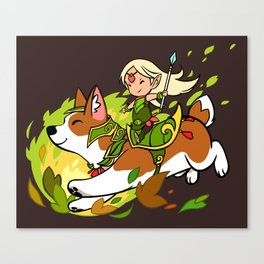 Corgi and Fairy Canvas Print