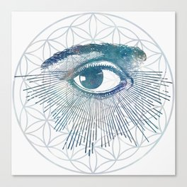 Mandala Vision Flower of Life Canvas Print