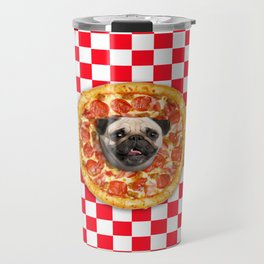 Pug Lover Pizza Travel Mug