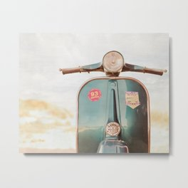 The Blue Vespa Metal Print