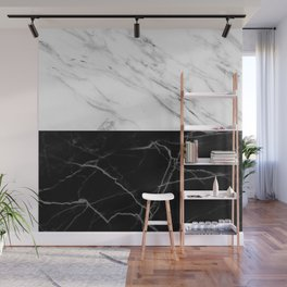 half black and white marble Wall Mural