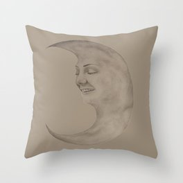 Moon Chick Throw Pillow