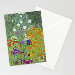 Flower Garden - Gustav Klimt Stationery Cards
