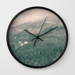 West Virginia Mountains Wall Clock