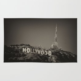 Vintage Hollywood sign Rug