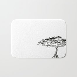 Whistling Thorn , Zen Bonsai African Tree Bath Mat