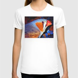 Zebra Finch Painted T-shirt