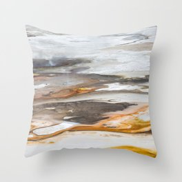 Yellowstone National Park - Thermophiles, Norris Geyser Basin Throw Pillow