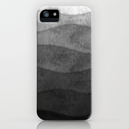 Monochrome waves Abstract modern art iPhone Case