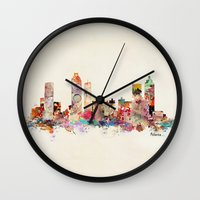atlanta Wall Clocks featuring Atlanta Georgia by bri.buckley