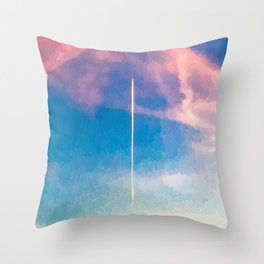 """"""" CONTRAIL """" Throw Pillow"""