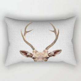 Deer - Colorful Rectangular Pillow
