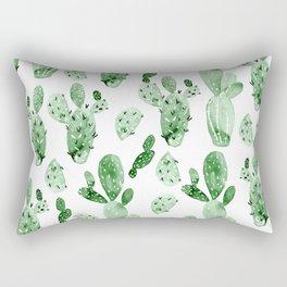 Green Cactus Field - Large Rectangular Pillow