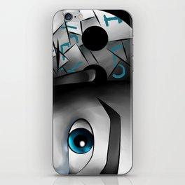 I Love You - Blue iPhone Skin