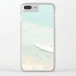 beach summer fun Clear iPhone Case