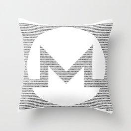 Binary Monero Throw Pillow