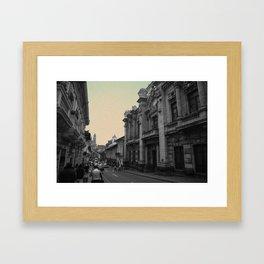 Quito Blue Framed Art Print