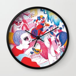 Existential crisis at your house party Wall Clock