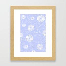 White Spirals Framed Art Print