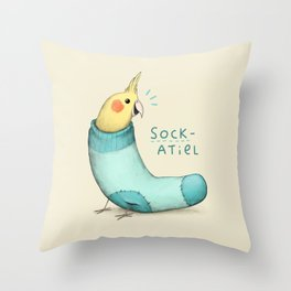 Sockatiel Throw Pillow