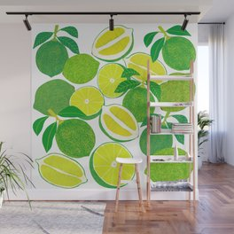 Lime Harvest Wall Mural
