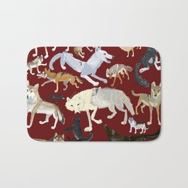 Wolves of the world Red Version Bath Mat