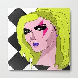 Glam Rock Queen Metal Print