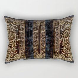 Gilded Leather Tome Rectangular Pillow