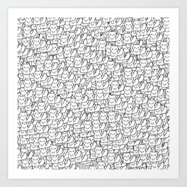 Cats. That is all.  Art Print
