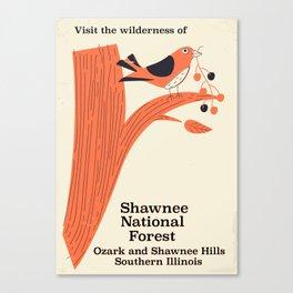 Shawnee National Forest Vintage travel poster Canvas Print