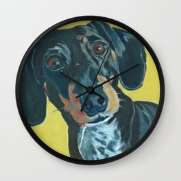 Dachshund Dog Portrait Wall Clock