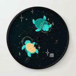 Space Turtles Wall Clock