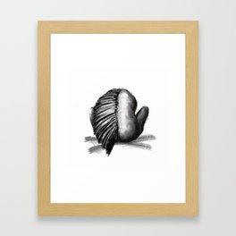Hybrid Animal Human Dark Emo Painting Framed Art Print