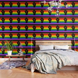 LGBT Pride Flag More Colors Raised Fist (More Pride) Wallpaper