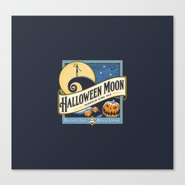 Halloween Moon Canvas Print