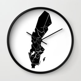 The Swedish landscapes - whitish Wall Clock