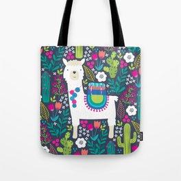 Llama Garden Tote Bag