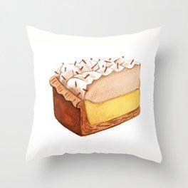 Coconut Cream Pie Slice Throw Pillow