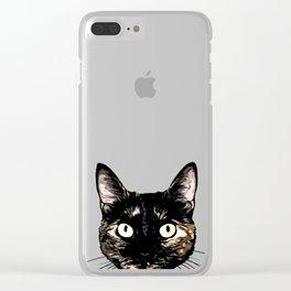 Peeking Cat Clear iPhone Case