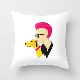 Cool Punk Throw Pillow