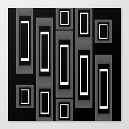 The Apartment on Black,White,Gray Canvas Print