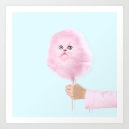 Cotton Kitty Art Print